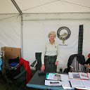Ruth at Clan tent